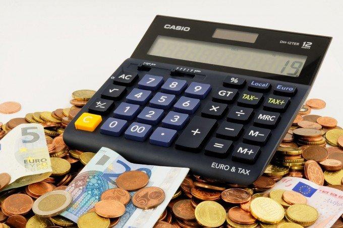 計算機でお金を計算