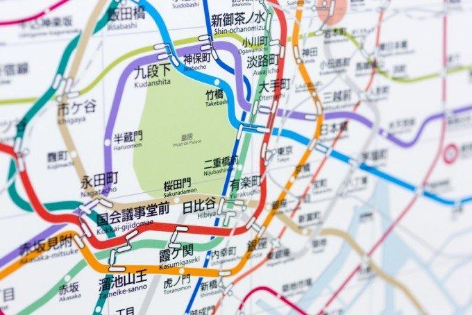 東京の電車路線図